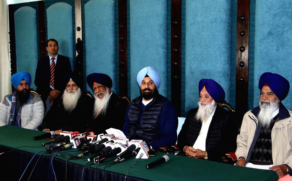 Shiromani Akali Dal (SAD) leader Bikram Singh Majithia addresses a press conference in Amritsar on Jan 9, 2020. - Bikram Singh Majithia