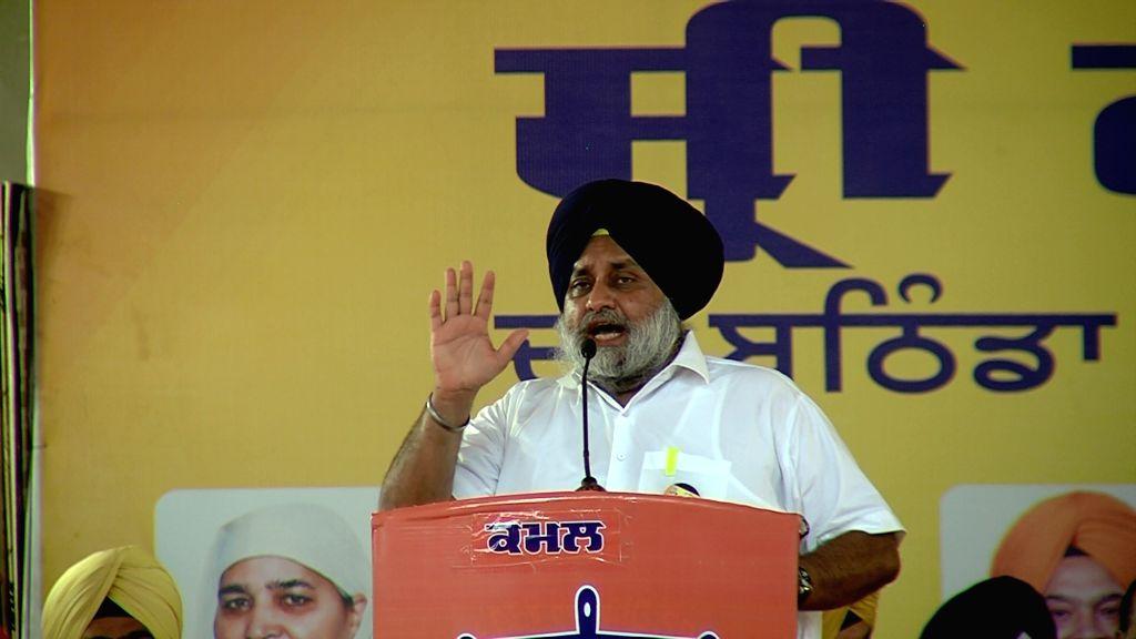 Shiromani Akali Dal (SAD) President Sukhbir Singh Badal. (Photo: IANS) - Sukhbir Singh Badal