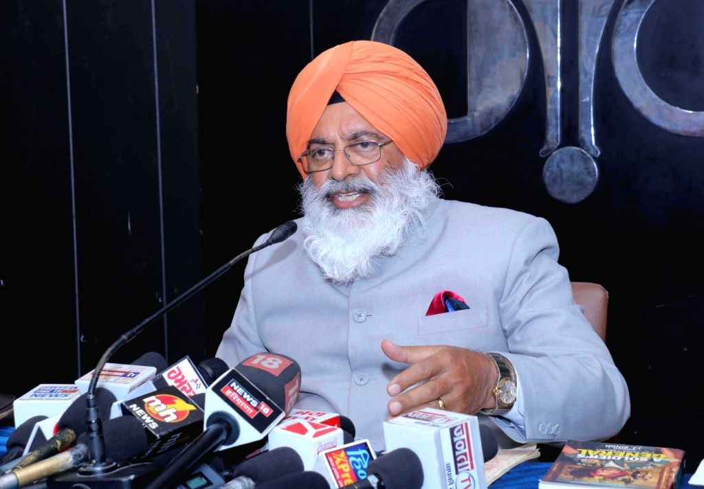 Shiromani Akali Dal (Taksali) Lok Sabha candidate from Khadoor Sahib, former Army chief Gen. J. J. Singh addresses a press conference in Chandigarh on March 15, 2019. - J. J. Singh
