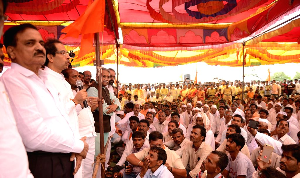 Shiv Sena chief Uddhav Thackeray addresses during a programme in Aurangabad, Maharashtra on June 26, 2017.
