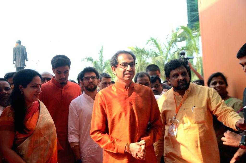 Shiv Sena chief Uddhav Thackeray arrives to attend the National Executive meeting in Worli, Mumbai on Jan 23, 2018.