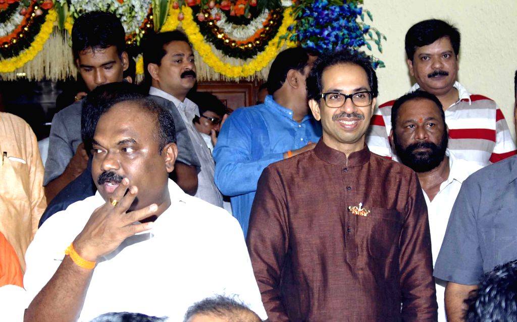 Shiv Sena chief Uddhav Thackeray during his birthday celebrations in Mumbai on July 27, 2014.