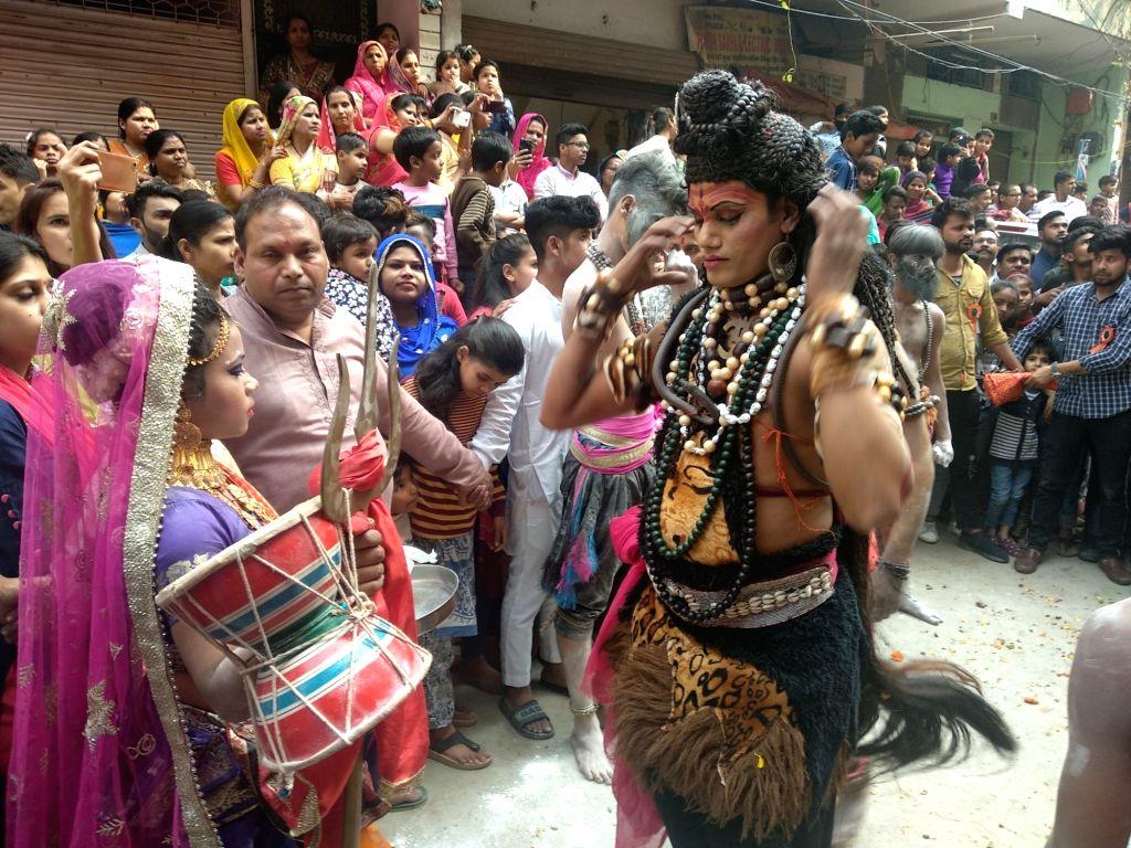 Shivratri celebrations underway in New Delhi on March 4, 2019.