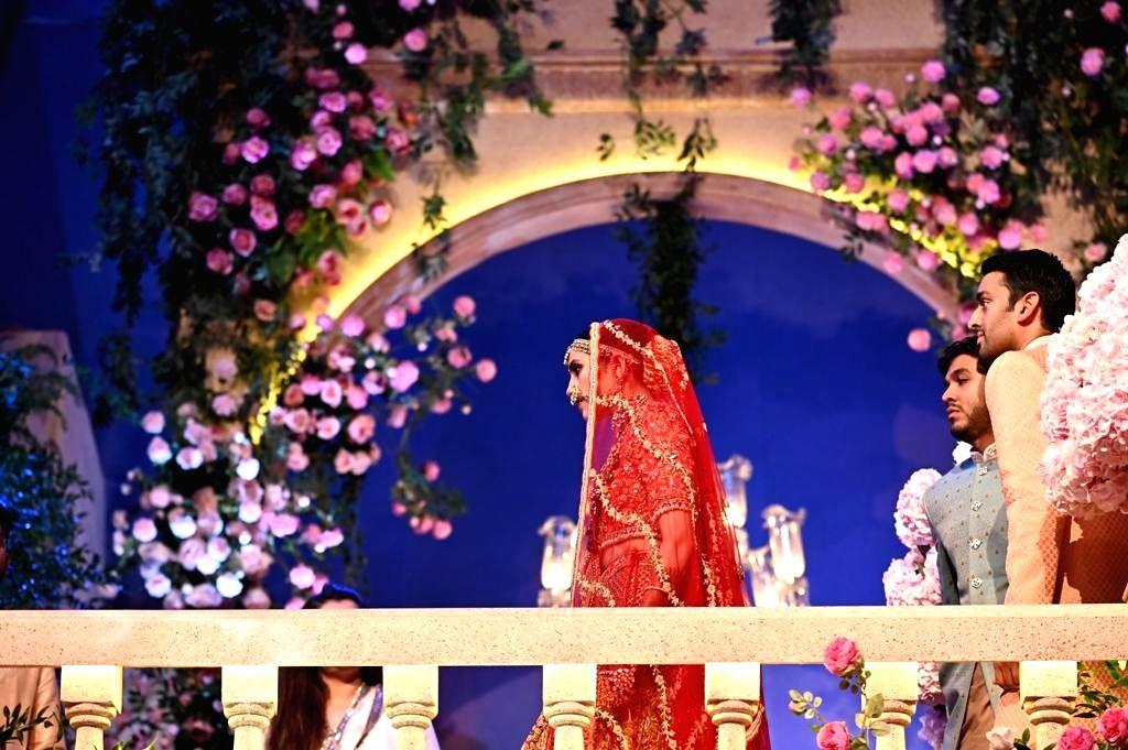 Shloka Mehta during her wedding in Mumbai on March 9, 2019. - Shloka Mehta