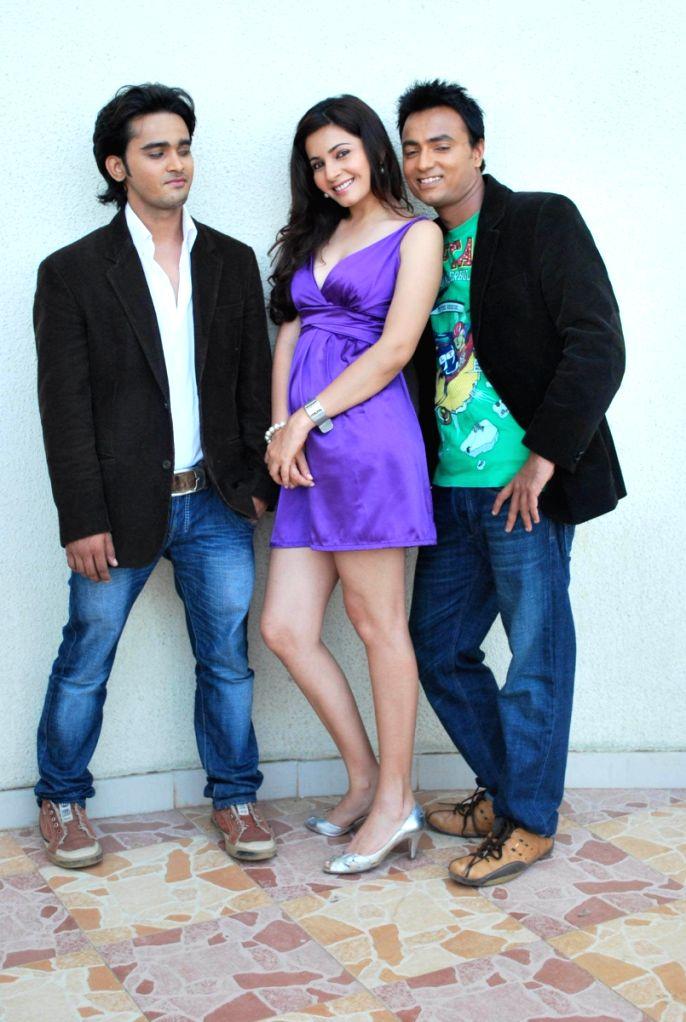 """Shonali Nagrani at the mahurat of film """"Payar ka Funda"""" at Madh, Mumbai."""