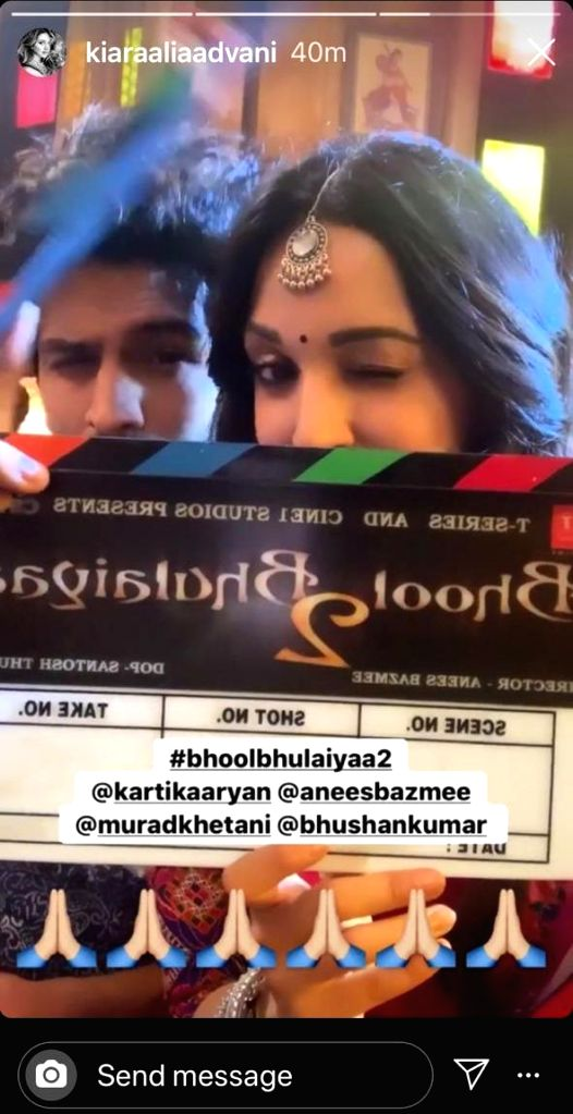 "Shooting for the second instalment of ""Bhool Bhulaiyaa"" directed by Anees Bazmee has begun. Actress Kiara Advani took to her Instagram Stories, where she shared a boomerang video of herself ... - Kiara Advani"