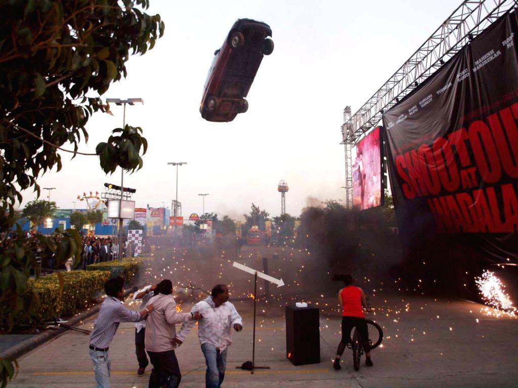 Shootout at Wadala  stunt launched the first look trailer of  Shootout at Wadala in GIP Mall,Noida.(Photo:IANS/Amlan)