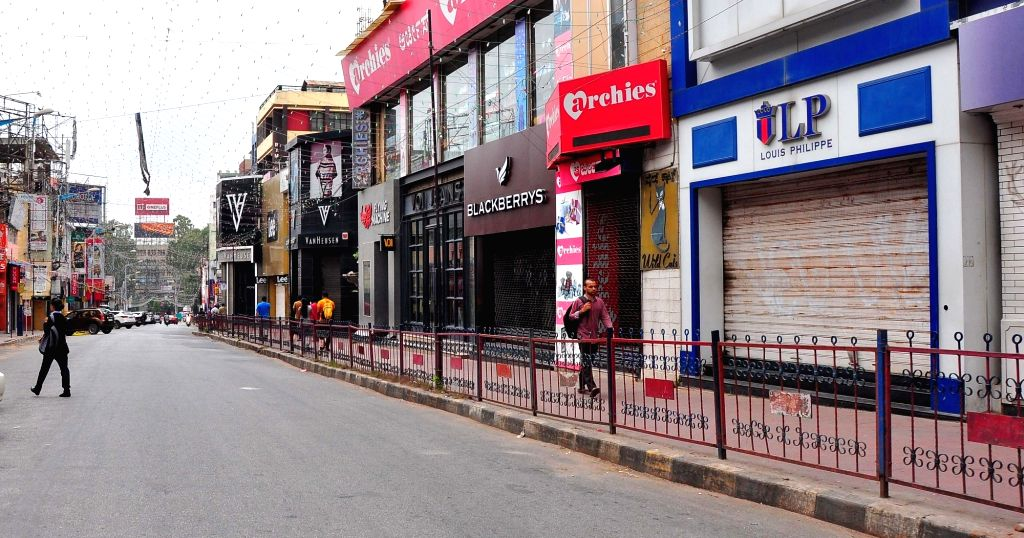 Shops remain closed during a day-long 'Bharat Bandh' or nationwide shutdown called by the Congress and Left parties to protest against rising fuel prices, in Bengaluru, on Sept 10, 2018.