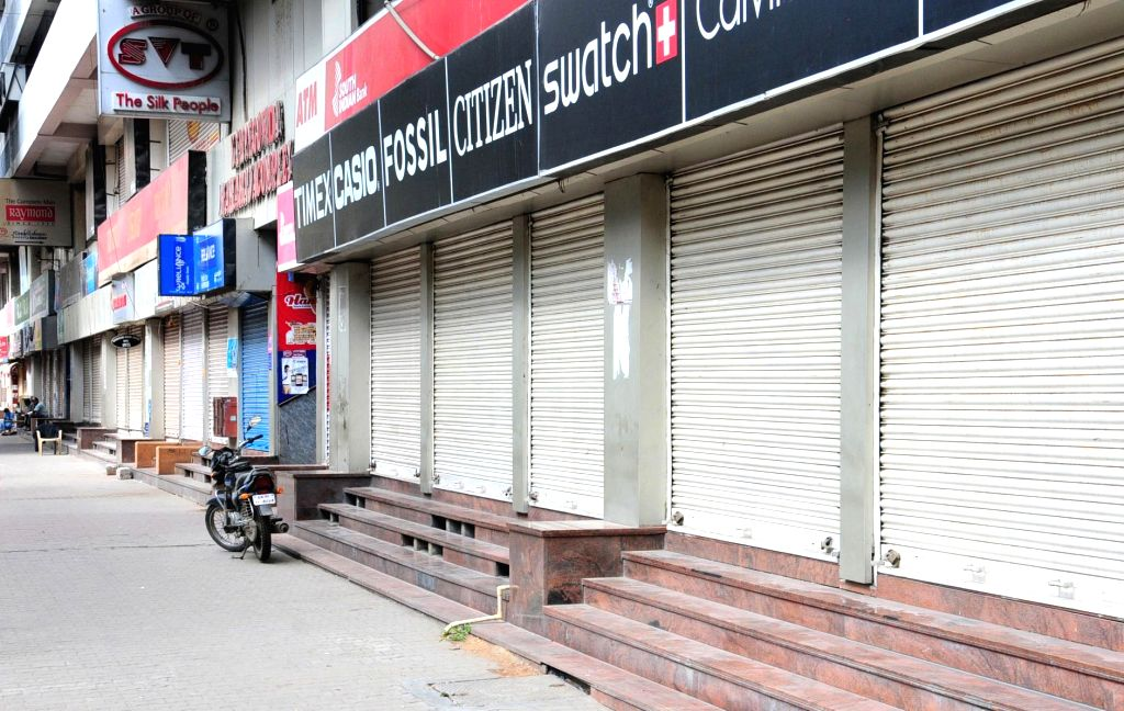 Shops remain closed in Bengaluru during a complete lockdown that has been reimposed on Sundays from July 5 to August 2 across Karnataka to confine citizens at home and restrict their ...