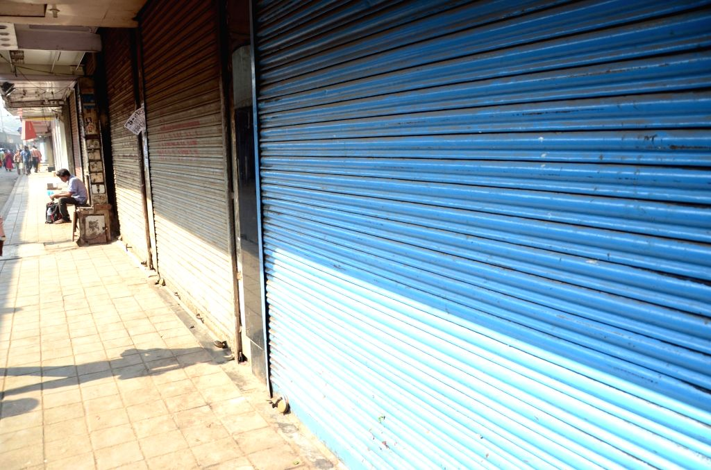Shops remain closed in Dadar to protest against 14 Feb Pulwama militant attack; in Mumbai on Feb 20, 2019.