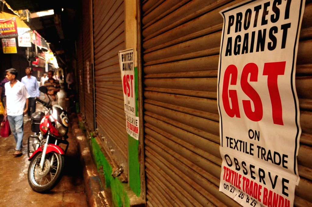 Shops remain closed in Kolkata to protest against GST on June 30, 2017.