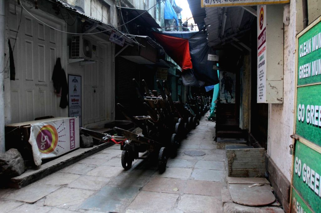 Shops remain closed in Mumbai to protest against suicide attack on a CRPF bus in Jammu and Kashmir's Pulwama district in which atleast 49 soldiers lost their lives; on Feb 16, 2019.