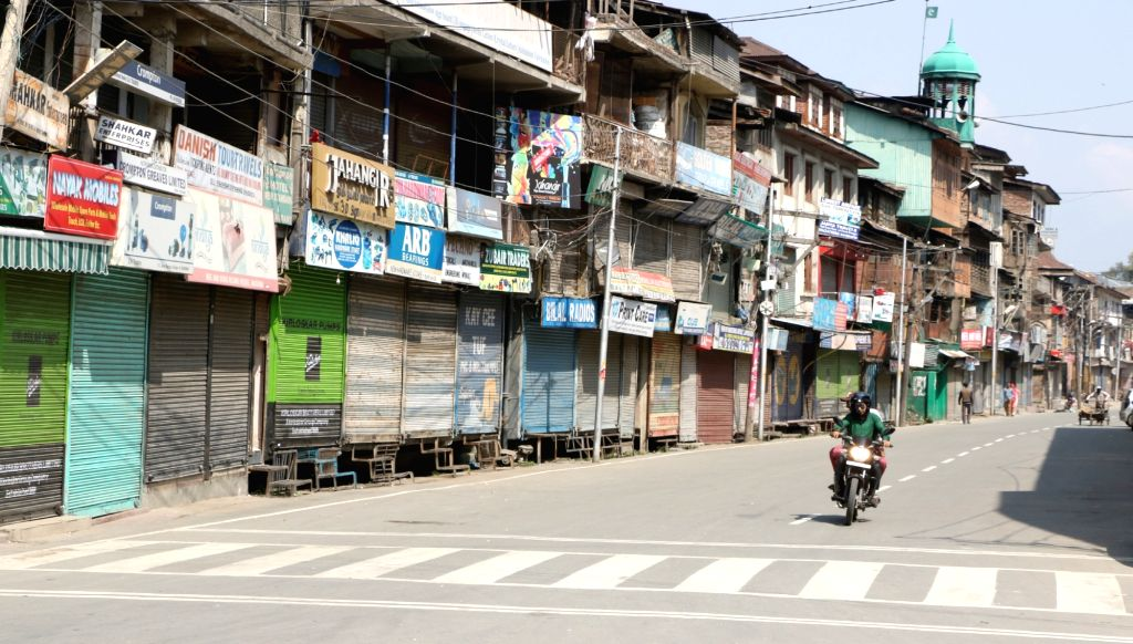 Shops remain closed in Srinagar during a protest shutdown called by Joint Resistance ership (JRL) separatist conglomerate headed by Syed Ali Geelani, Mirwaiz Umer Farooq and Muhammad ... - Malik