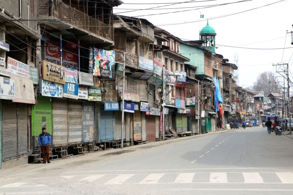 Shops remain closed in Srinagar during a shutdown was called by the Joint Resistance ership (JRL), a separatist conglomerate headed by Syed Ali Geelani, Mirwaiz Umer Farooq and Jammu ... - Malik