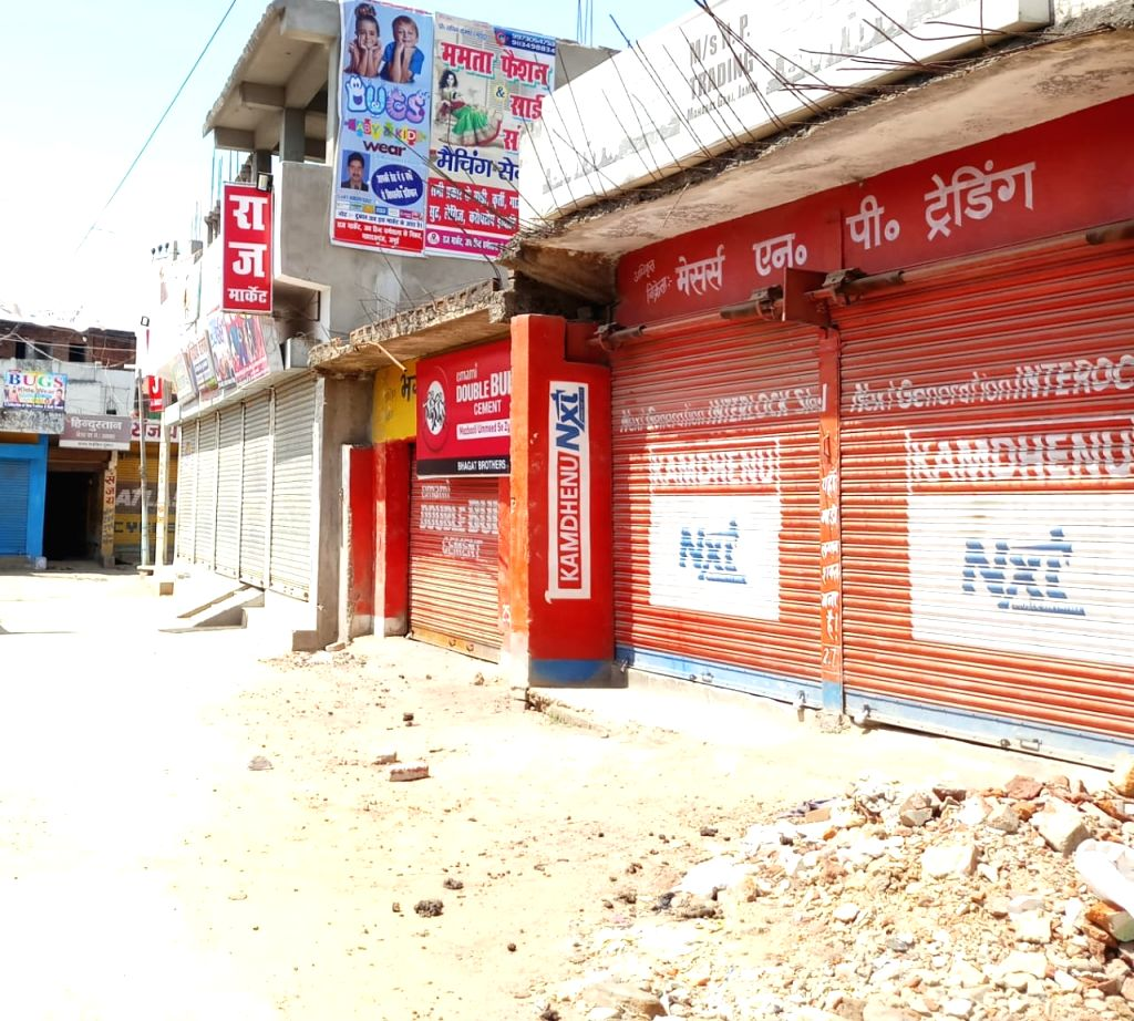 Shops remain shut on Day 2 of the 21-day nationwide lockdown imposed by the Narendra Modi government over the coronavirus pandemic; in Bihar's Jamui on March 26, 2020. - Narendra Modi
