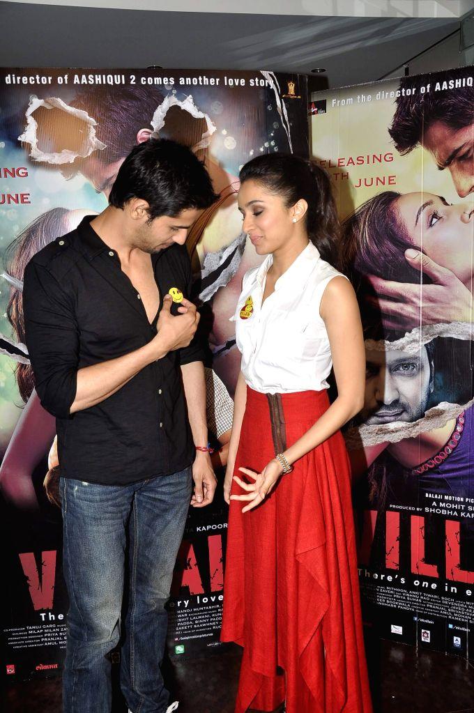 Shraddha Kapoor and Sidharth Malhotra during a media interaction of film Ek Villian in Mumbai June 16, 2014. - Shraddha Kapoor and Sidharth Malhotra