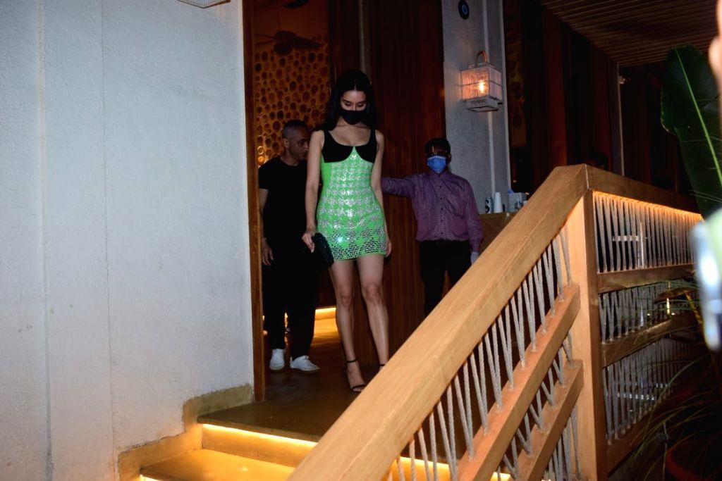 Shraddha Kapoor, Ranveer Singh, Rohan Shreshta, Krishika Lulla, Spotted Bastian in Worli on Sunday 07th March, 2021. - Shraddha Kapoor and Ranveer Singh