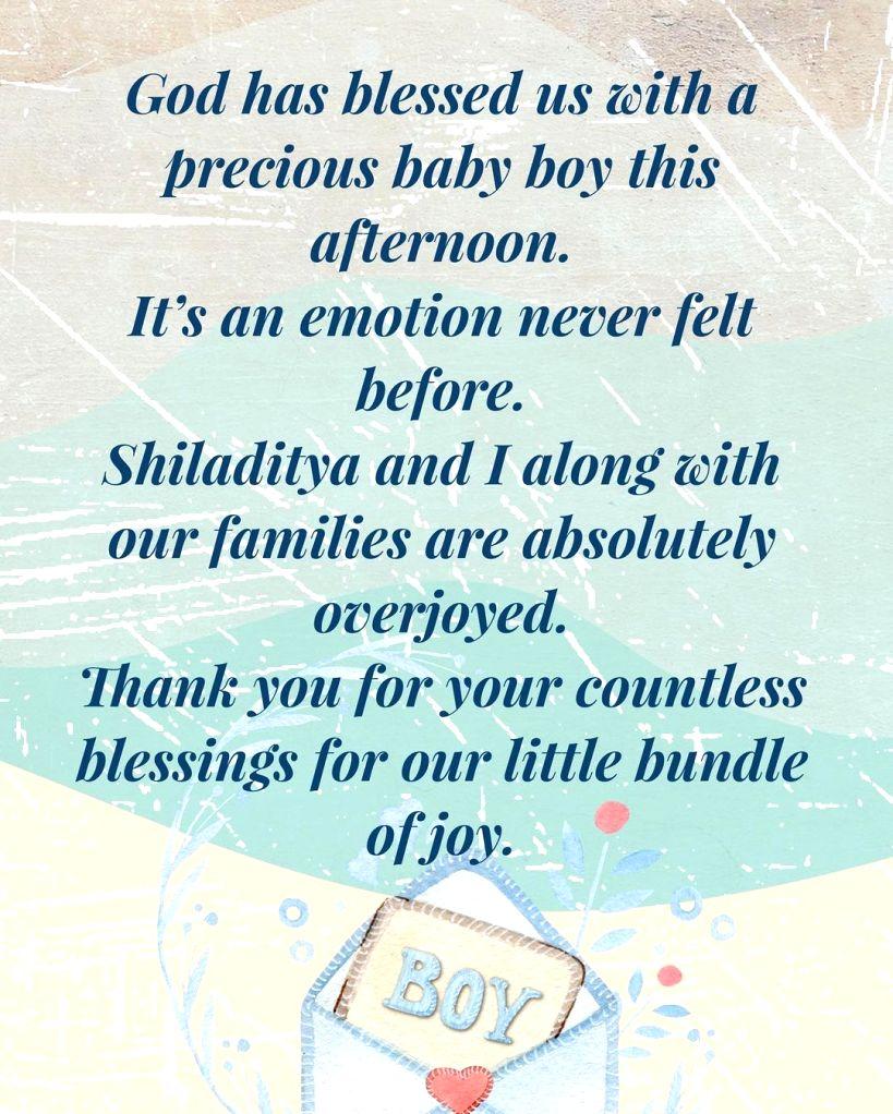 Shreya Ghoshal blessed with a baby boy.(photo:Instagram) - Shreya Ghoshal