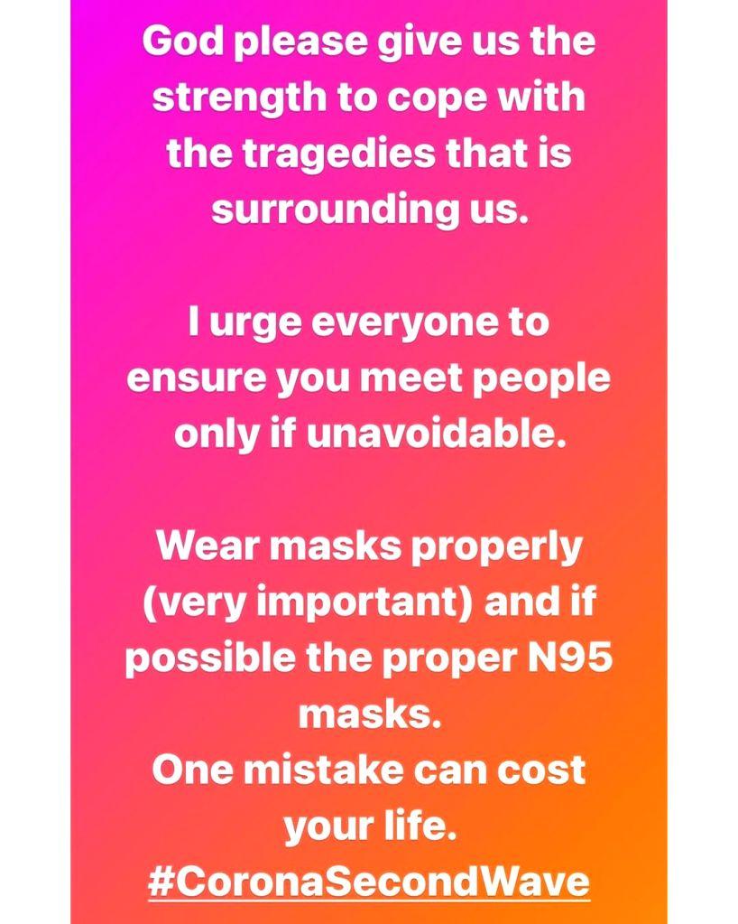 Shreya Ghoshal: I urge everyone to meet people only if unavoidable.(photo:Instagram) - Shreya Ghoshal