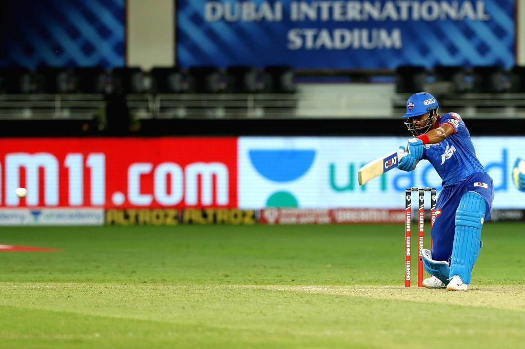 Shreyas Iyer captain of Delhi Capitals batting during match 7 of season 13, Dream 11 Indian Premier League (IPL) between Chennai Super Kings and Delhi Capitals held at the Dubai International Cricket ...