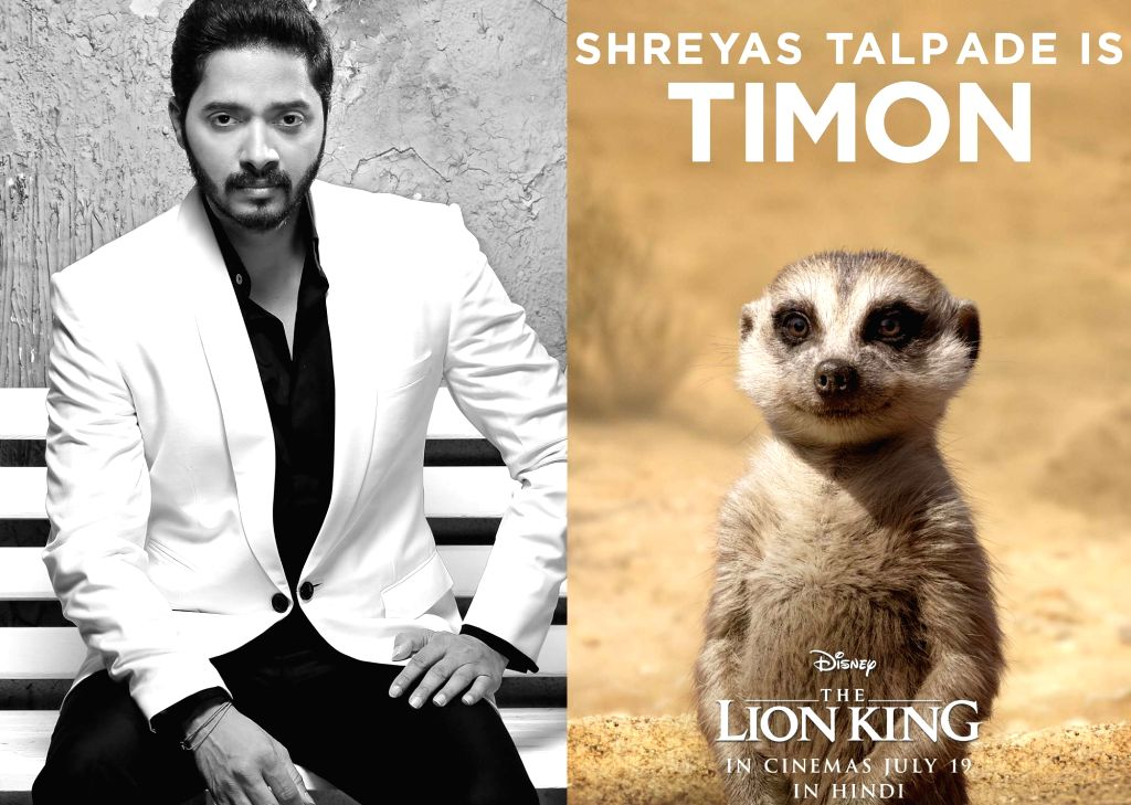"Shreyas Talpade is Timon in the Hindi version of ""The Lion King"". - Shreyas Talpade"