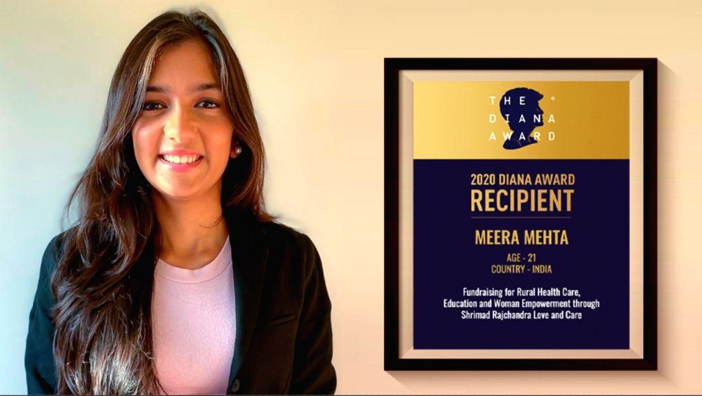 Shrimad Rajchandra Love and Care honoured volunteer Meera Mehta receives UK's The Diana Award. - Meera Mehta