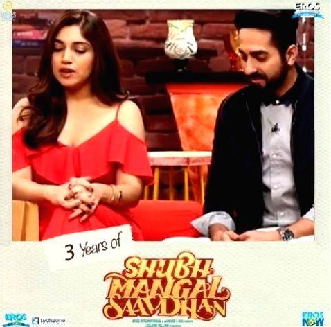 Shubh Mangal Saavdhan turns 3: Bhumi calls Ayushmann her best co-star