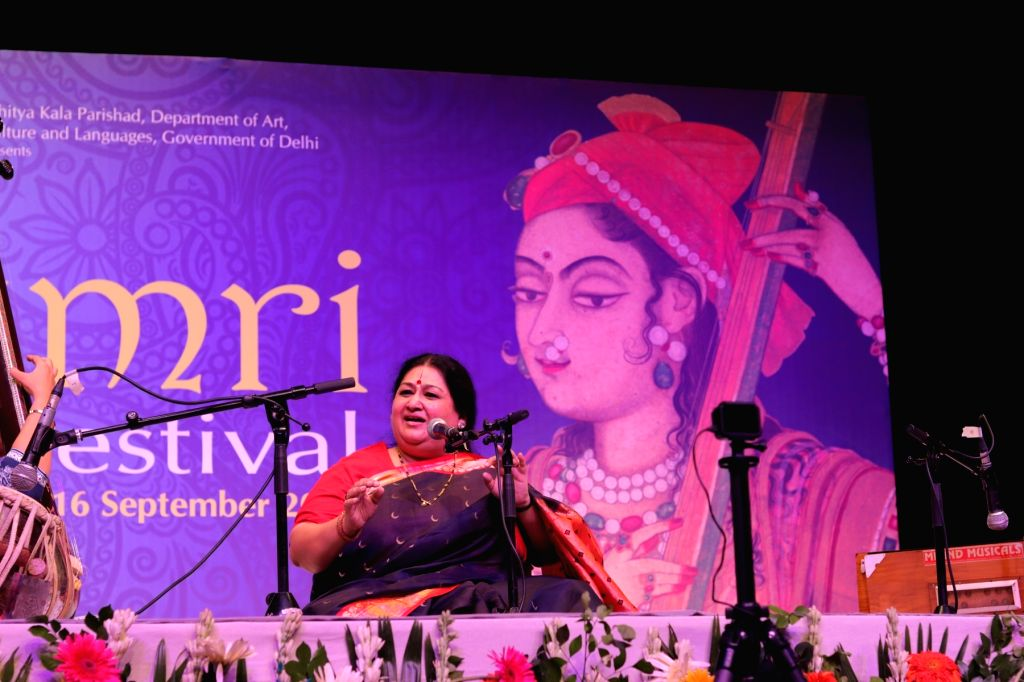 : Shubha Mudgal at Thumri Festival. (Photo Source: Thumri Festival team).