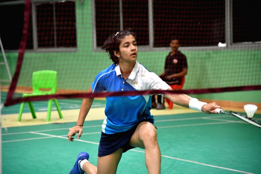 Shuttler Malvika Bansod during a training session ahead of the Asian Junior Championships, at the Tau Devi Lal Stadium in Haryana's Panchkula.