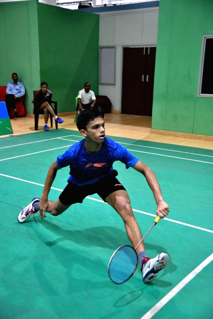 Shuttler S. Muthuswamy during a training session ahead of the Asian Junior Championships, at the Tau Devi Lal Stadium in Haryana's Panchkula.