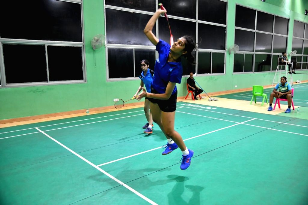 Shuttler Tanisha Crasto during a training session ahead of the Asian Junior Championships, at the Tau Devi Lal Stadium in Haryana's Panchkula.