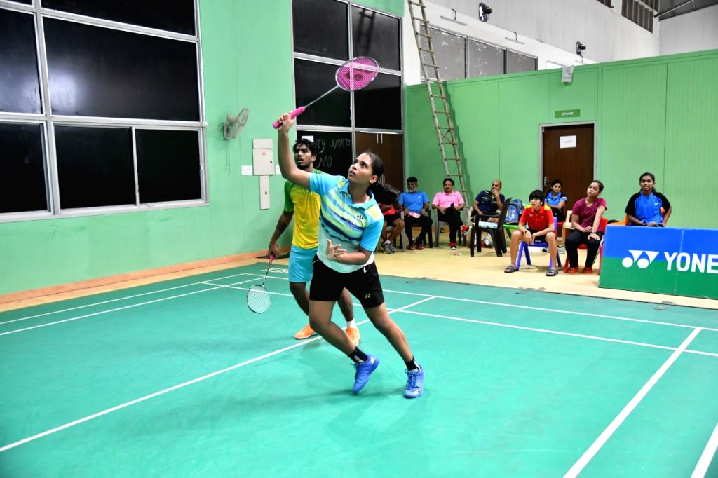Shuttler Teresa Jolly during a training session ahead of the Asian Junior Championships, at the Tau Devi Lal Stadium in Haryana's Panchkula.