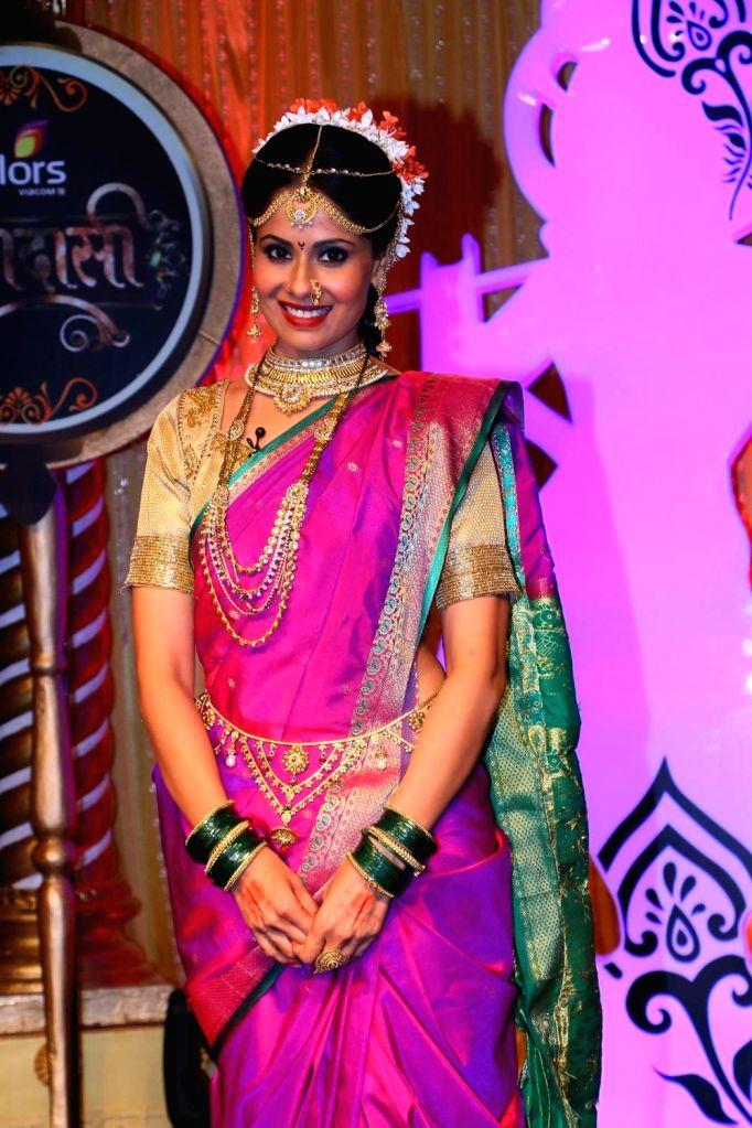 Shweta Mahadik as Pavitra during the lauch of new TV Serial 'Krishnadasi' in Colors TV Channel in Mumbai.