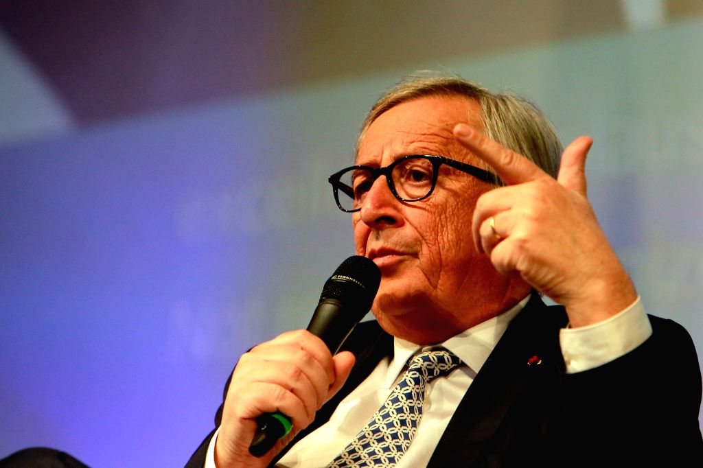 SIBIU (ROMANIA), May 8, 2019 European Commission President Jean-Claude Juncker attends the Young citizens' dialogue in Sibiu, Romania, on May 8, 2019, a day before the start of the ...