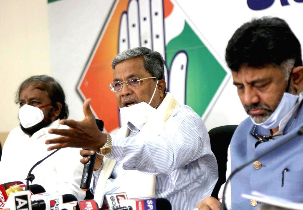 Siddaramaiah, Shivakumar feud behind graft charges: BJP