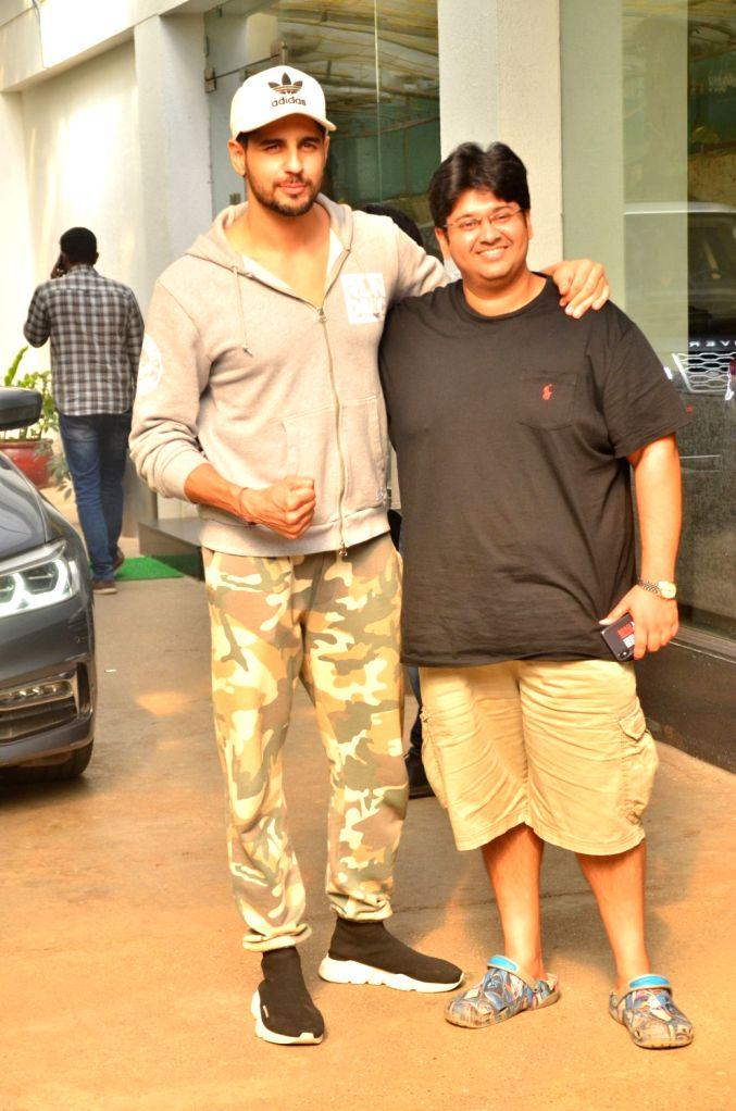 Siddharth Malhotra seen at a sound studio in Mumbai on July 19, 2019. - Siddharth Malhotra