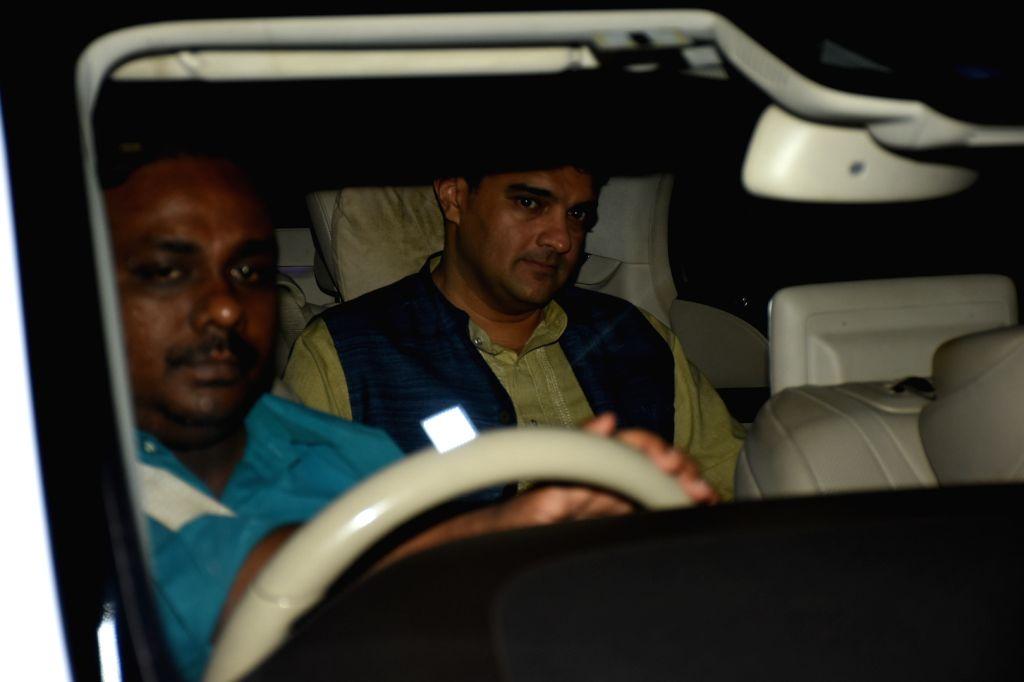 Siddharth Roy Kapur husband of actress Vidya Balan, seen at Chhatrapati Shivaji Maharaj International Airport in Mumbai, after attending Prime Minister Narendra Modi's swearing-in ceremony, ... - Vidya Balan, Siddharth Roy Kapur and Narendra Modi
