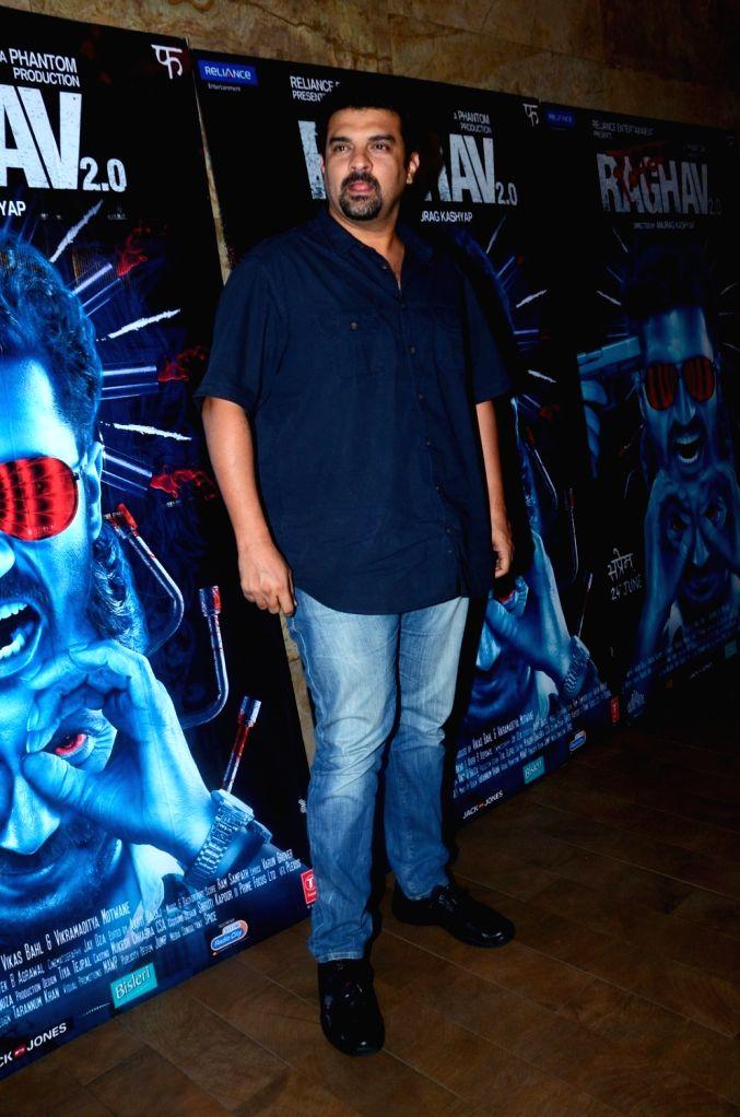 Siddharth Roy Kapur, MD, Disney India during the special screening of film Raman Raghav 2.0 in Mumbai on June 22, 2016. - Siddharth Roy Kapur