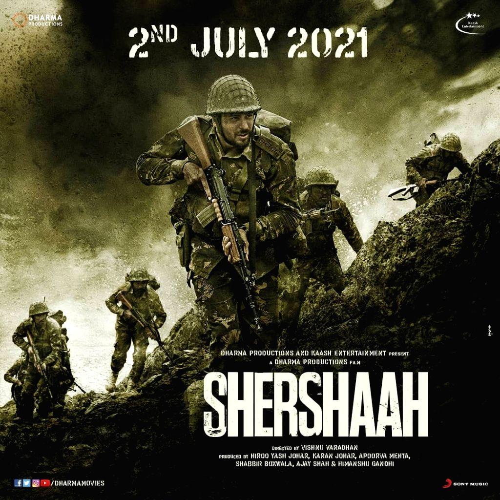 Sidharth Malhotra-starrer 'Shershaah' in theatres on July 2 (Credit: Instagram) - Sidharth Malhotra