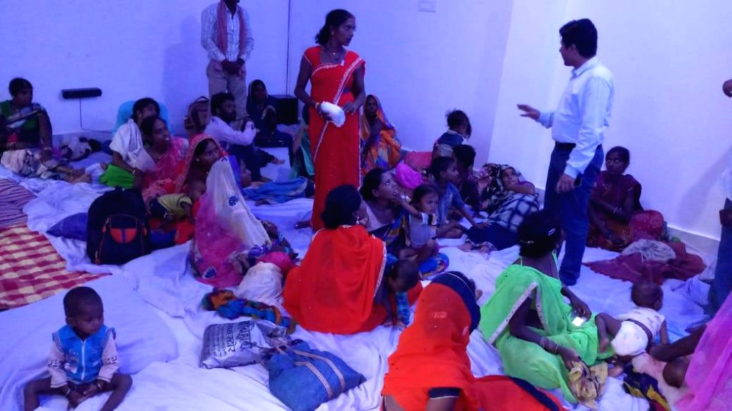 Sidhi District Magistrate Abhishek Singh accommodates sick 100 children at his residence.
