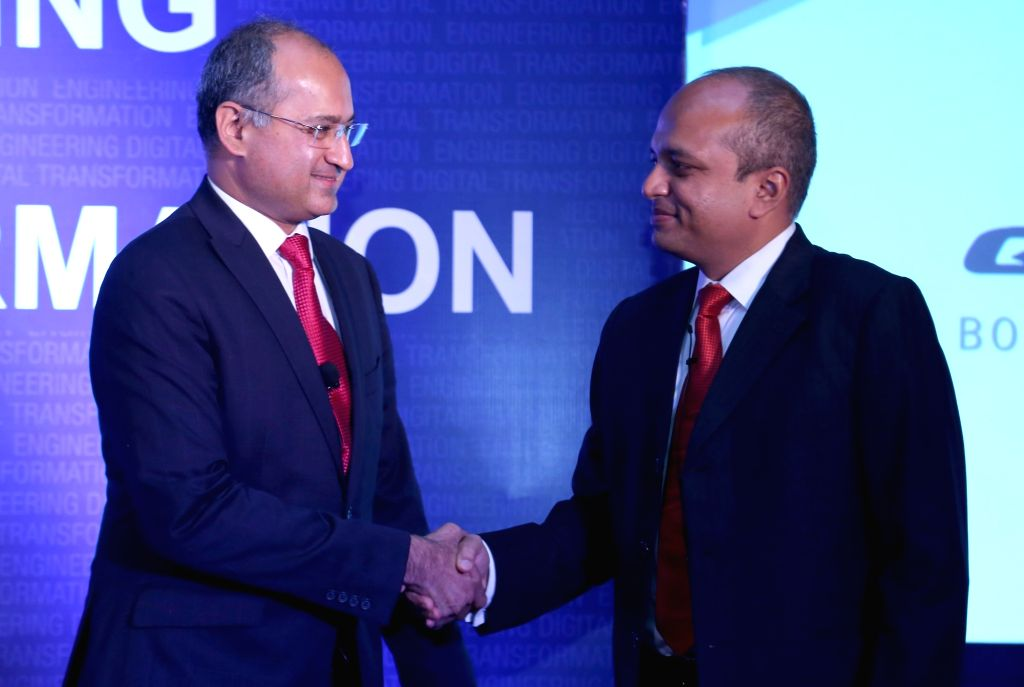 Siemens PLM Software India Managing Director and CEO Suman Bose and QuEST Global Chief Operating Officer Dr. Ajay A. Prabhu during a press conference to announce partnership between ... - Suman Bose