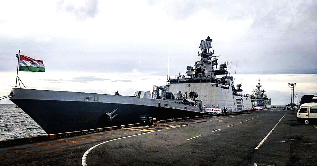 Sihanoukville: As part of Indian Navy's Overseas Deployment to South East Asia and  Western Pacific, Indian Navy ships Sahyadri and Kiltan made a port call at Sihanoukville, Cambodia, on Sep 5, 2019. The ships that will be in Cambodia from 5th to 8th