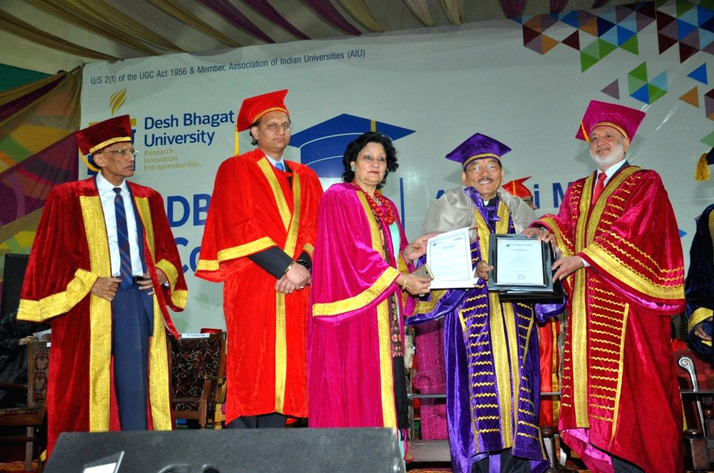 Sikkim Chief Minister Pawan Chamling being conferred the prestigious Doctorate of Literature (Honoris Causa) by Desh Bhagat University for his 'exceptional vision, deep commitment and ... - Pawan Chamling