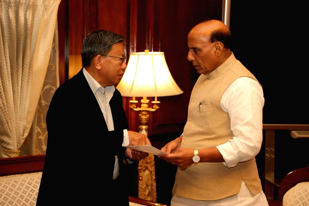 Sikkim MP PD Rai calls on Union Home Minister Rajnath Singh to convey the state's and Chief Minister Pawan Chamling's unstinted support and commitment to the government over the ... - Rajnath Singh