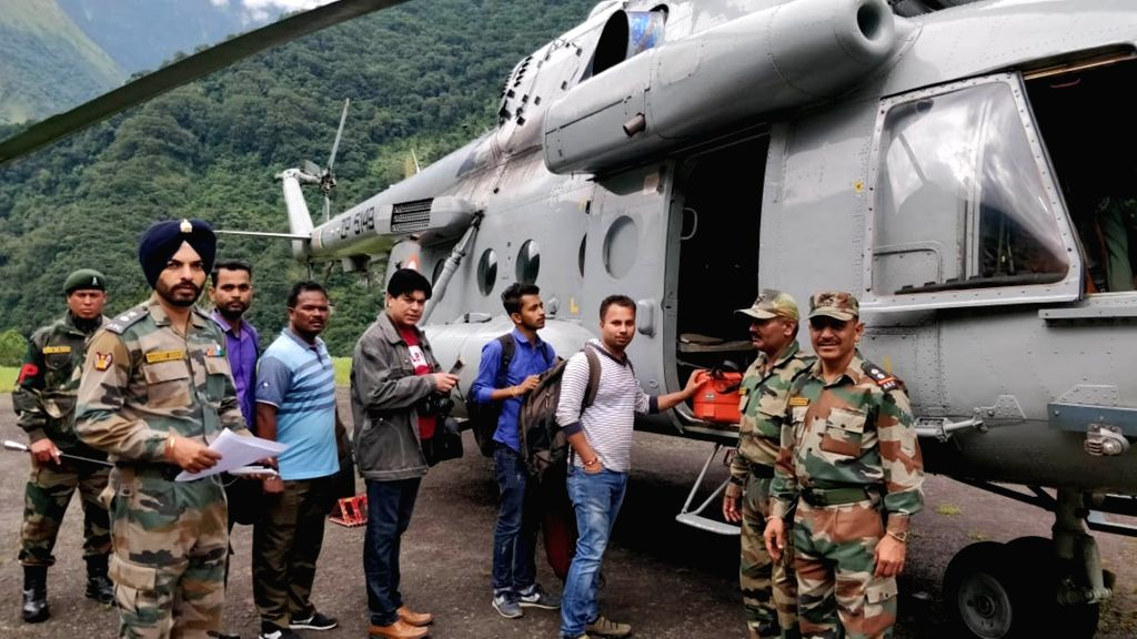 :Sikkim: The Trishakti Corps of Indian Army and Indian Air Force (IAF), in coordination with the civil administration, has commenced air evacuation of tourists stranded in the rain-hit far flung ...