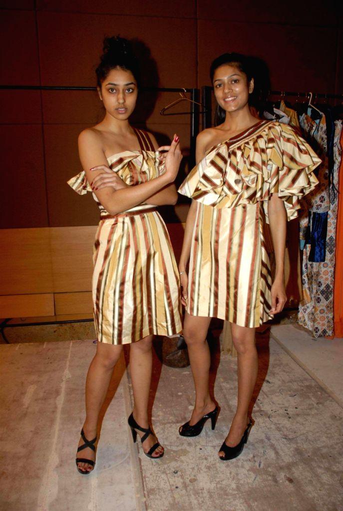 Simran Kaur Mundi and Indrani Dasgupta at designer Gaytri Khanna's fittings for LIFW.