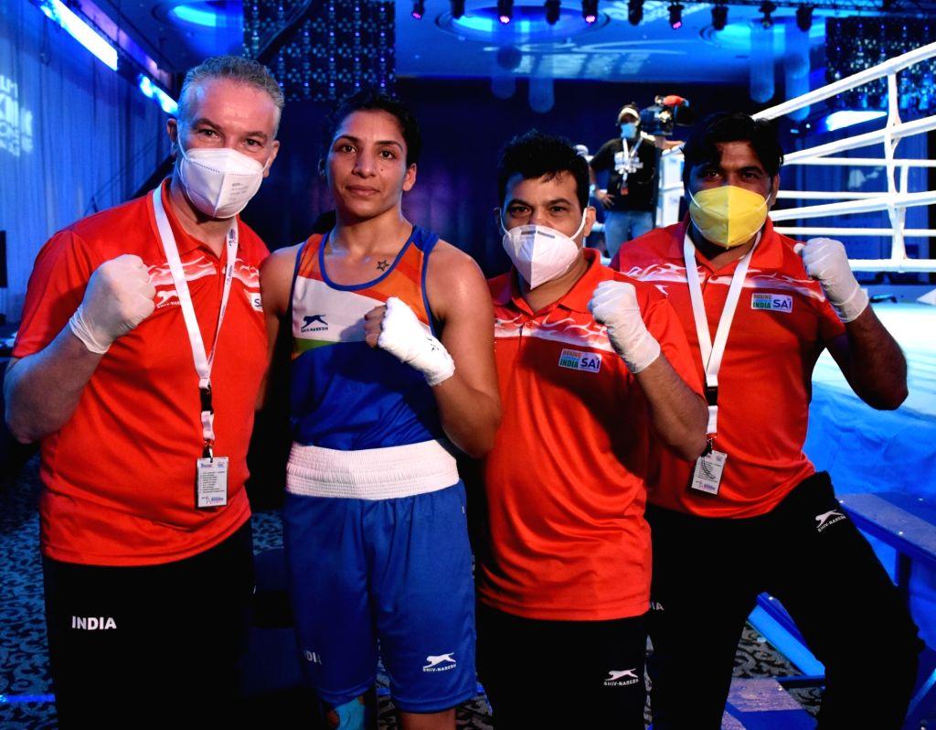 Simranjeet, Jasmine and Sakshi reach semi-finals.