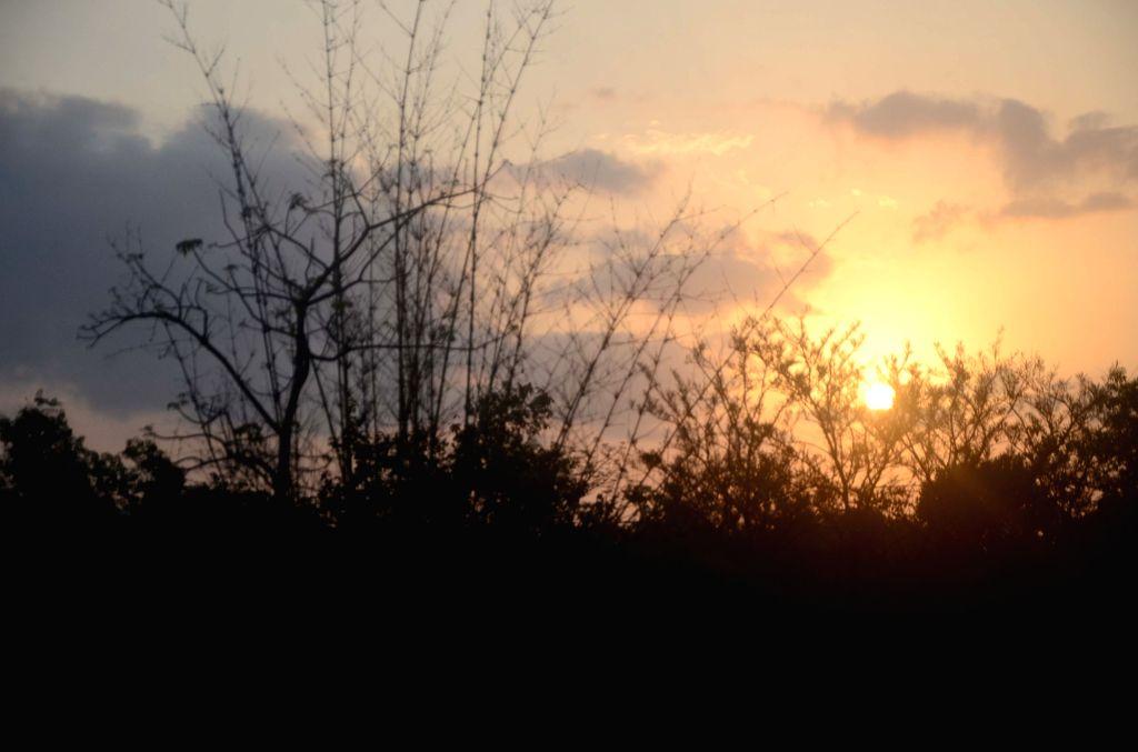 Sindhudurg (Maharashtra):  A view of sunrise in Maharashtra's Sindhudurg.