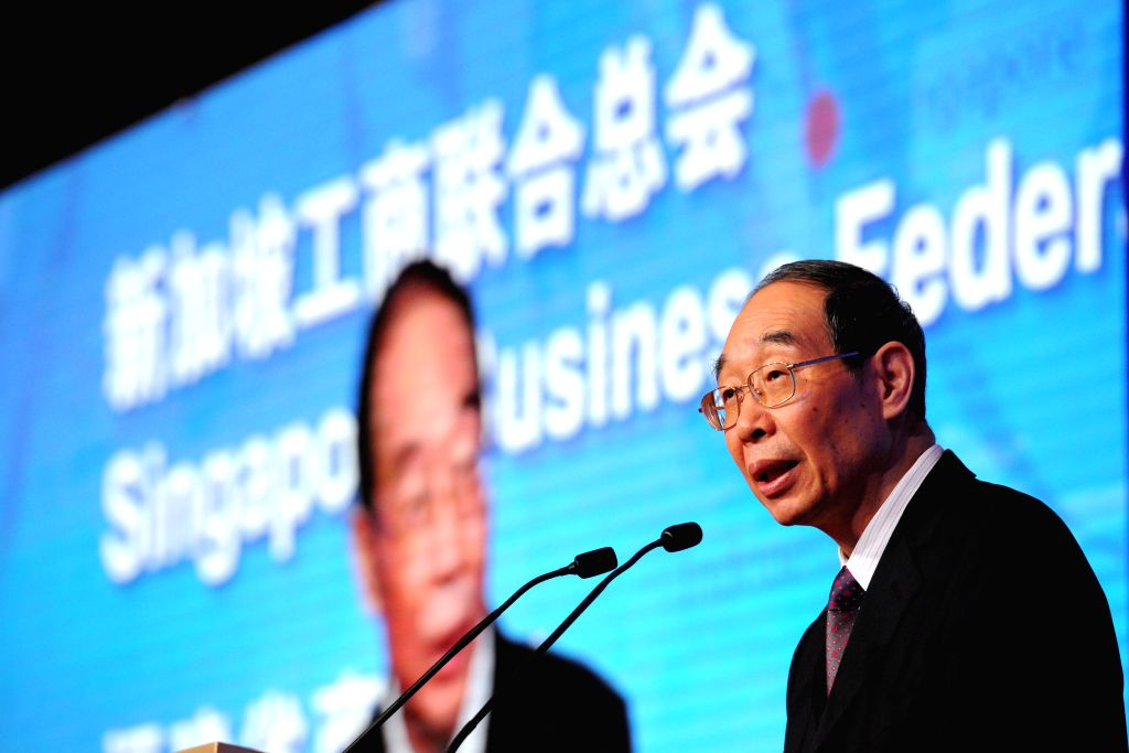 SINGAPORE, April 18, 2016 - You Quan, chief of the Fujian Provincial Committee of the Communist Party of China, addresses the China (Fujian) - Singapore Economic and Trade Promotion held at ...