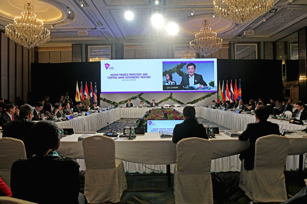 SINGAPORE, April 6, 2018 - The  Association of Southeast Asian Nations (ASEAN) Finance Ministers' and Central Bank Governors' meeting is held in Singapore, on April 6, 2018.